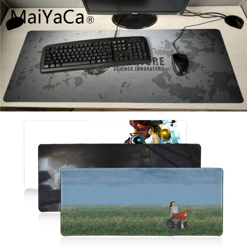 Maiyaca Portal 2 Rubber Mouse Durable Desktop Mousepad BIG SIZE 700x300mm Mouse Pad XXL Durable Table PC Anti-slip Mouse Mat