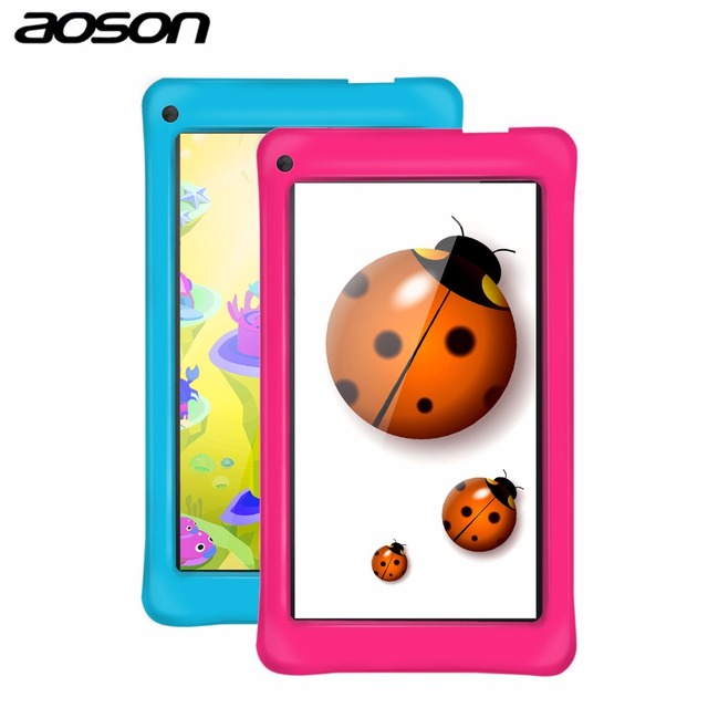 Best Child Gift 7 inch Aoson M751S-BS Tablet PC Quad Core Android 8GB 1024*600 Dual Cam WIFI Bluetooth FM Kids Pad Tablet Toy