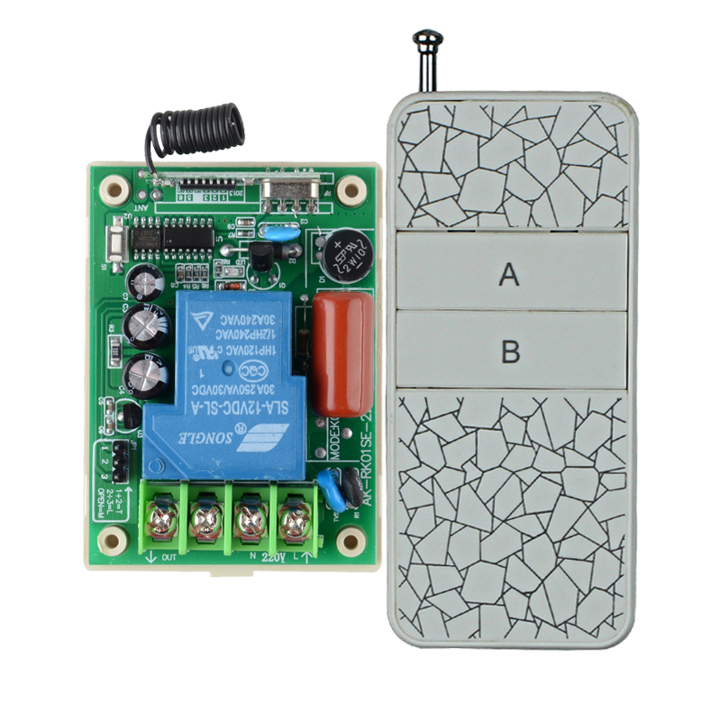 AC220V 30A 3000W 20-200M Remote Control Switch Water Pump Motor LED Remote Controller Long Range Distance Transmitter 315 433MHZ ac 380v 30a 3000w motor controller with remote control for water pump fans a7s7