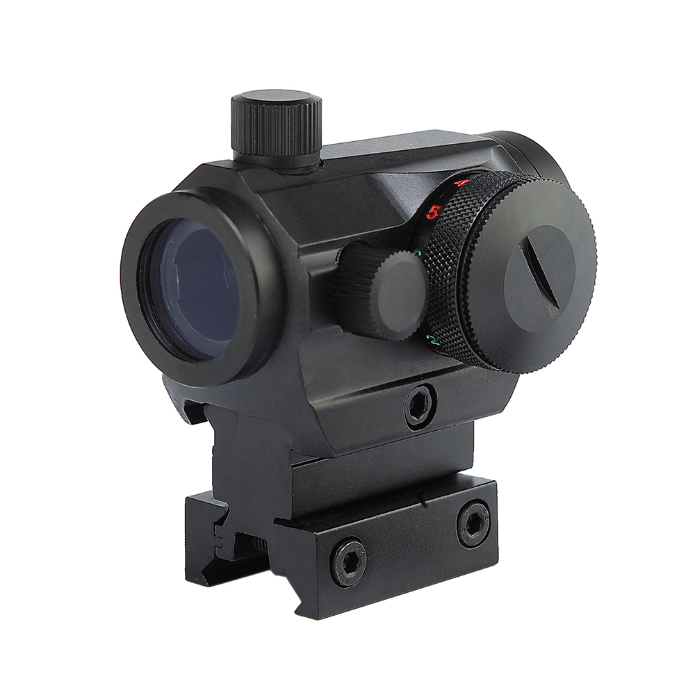 Tactical Hunting Red Green Dot Reflex Sight Scopes With High/Low Dual Profile Rail Mount Airsoft Air Guns Rifle Red Dot Scopes.
