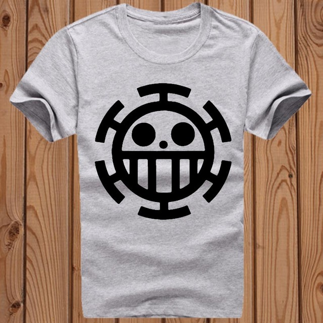 One Piece Luffy Anime Casual Fashion Short Sleeves Cotton Men's T-shirt
