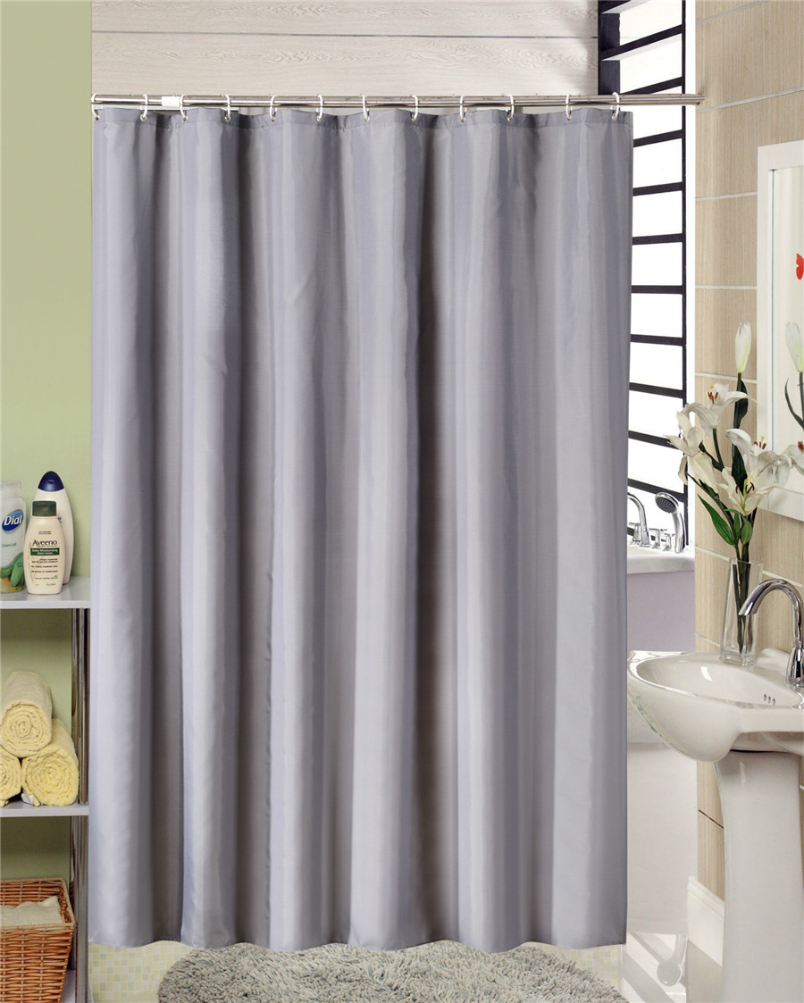 Bathroom Shower Curtain European Style Modern Grey Bathroom Shower Curtain Fabric Liner With 12 Hooks 71x71 Inch Waterproof And Mildewproof Bath Curtain