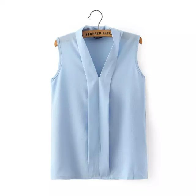 Women plus size v neck summer blouses low cut sleeveless for Low neck t shirts women s