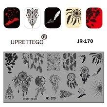 Plantilla Placa de estampado de acero inoxidable 2019 frase rusa amor patrón Floral Vintage Ángel herramienta de uñas lineal JR161-170