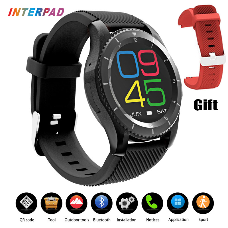 Interpad Wearable Devices Smartwatch Android G8 Smart Watch iOS Support SIM Card Heart Rate Monitor For xiaomi Huawei iPhone bluetooth smart watch uc08 smartwatch sim card reloj inteligente support hebrew for iphone samsung huawei xiaomi android ios