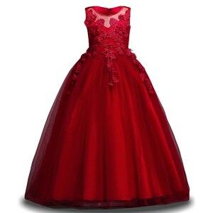Image 3 - 女の子夏7 8 9 10 11 12年ウェディングフラワーガールズドレスための子供パーティードレス子供衣装服