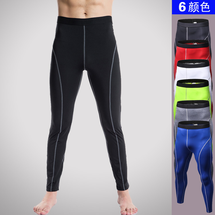 New 2017 Mens Compression Pants Fashion Jogger Tights Bodybuilding Trousers High Elasticity Quick Dry Base Layer Skinny Leggings