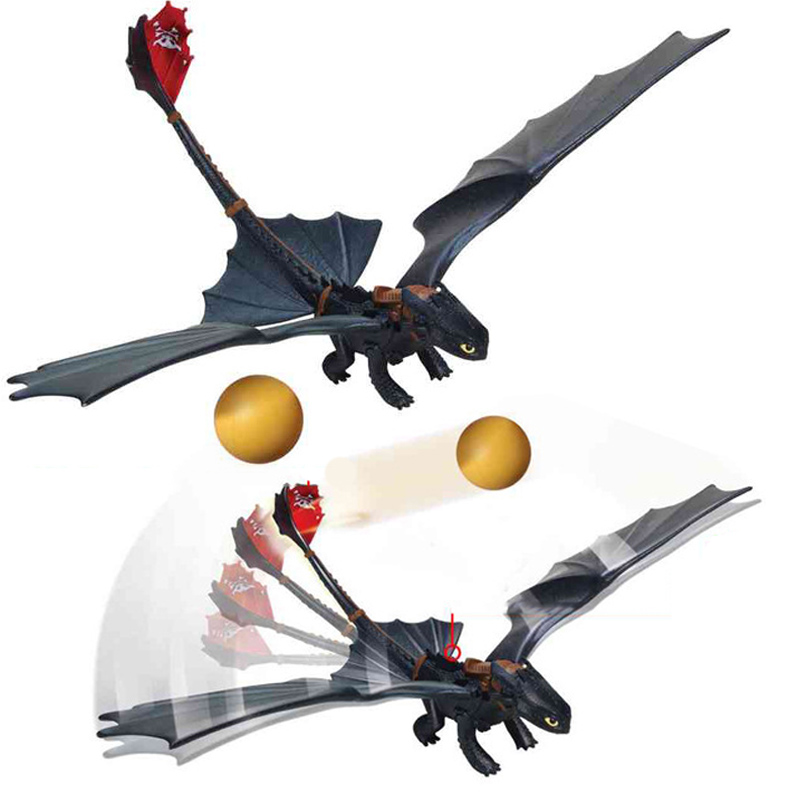 How to Train Your Dragon 3 Limited launch bullet Light Fury night fury Toothless Can fire bullet Action figure White Dragon Toy in Action Toy Figures from Toys Hobbies