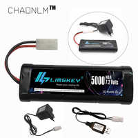 7.2V 5000mAh Ni-MH SC battery and 7.2v charger for RC toys tank car Airplane Helicopter With Tamiya Connectors 7.2 v battery