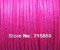 Free Shipping  3 x 1.5mm 100Yards  (92 Meters)  Metallic Hot pink Color  Flat Faux Suede  Cord jewellery stringing DIY Rope