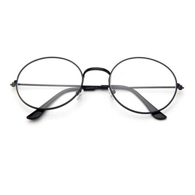 e6c4e90b6b Cute Vintage Women Small Round Full Metal Glasses Frame Fashion Classic Eyewear  Clear Lens Nerd Optical Eyeglasses Oculos Gafas