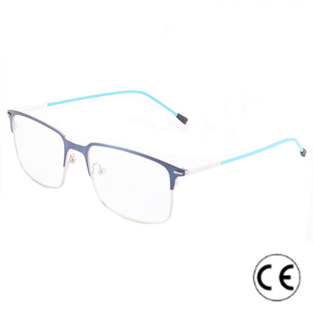 2108c5a2131 Cardinal Square Mental Rimless Glasses Frame Thin Reading Glasses Vintage  Eyewear Clear Lens Myopia Prescription Eyeglasses CE
