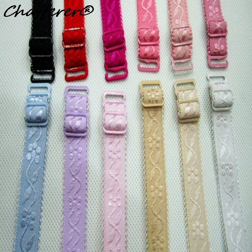 Chafferer Premium Grade 1.5 1.8cm Jacquard Cloth Shoulder Straps Practical Bra Strap for Women Normal Use Underwear Straps 1pair