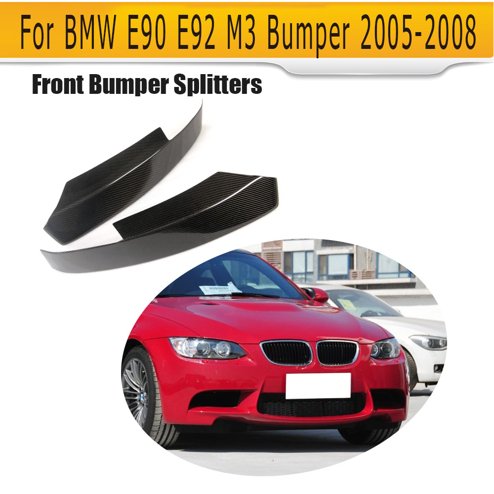 E90 E92 Carbon Fiber front bumper lip splitters for BMW E90 E92 M3 Bumper 2005-2008