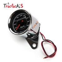 Universal 0 180km H Led Digital Speedometer DC12V Motorcycle Gauge Dual Odometer Motorbike Speedometer Gauge Backlight
