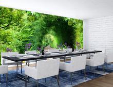 Настройка роскошные обои Бамбук Дорога 3d настенные фрески обои домашнего декора гостиной обои современный