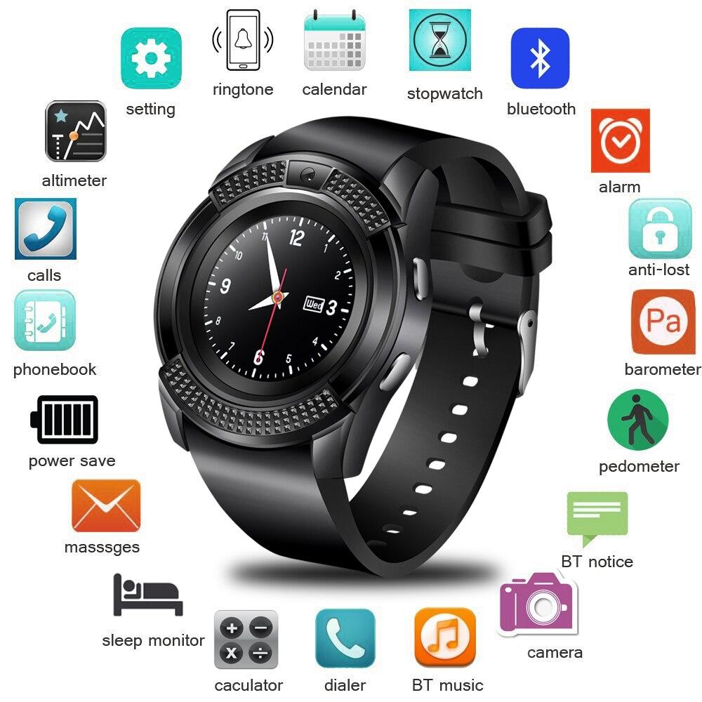 BANGWEI Couple Multifonction Montre Intelligente Écran Couleur LED Horloge Intelligente de Podomètre Numérique Montre Hommes Femmes Android Montre-Bracelet Intelligente