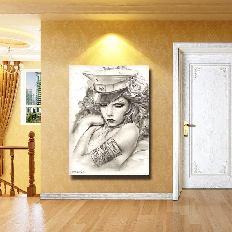 Frete grátis pintado à mão 100% design original pinturas a óleo da lona para a decoração home da parede pintura chinesa - 4