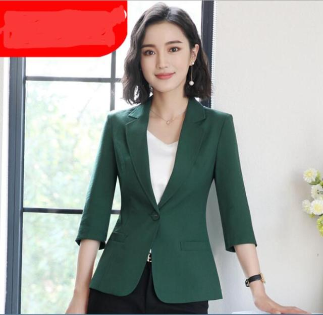 c1a00277a827d Plus size Casual one button elegant blazer women suit office 2018 spring new  arrivals 4colors