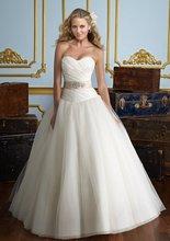 75-30 Beautiful Sweetheart A-line Organza Ruffle Beadeds Wedding Dresses