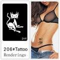 Desechables tatuaje plantilla, desmontable, la creación artística, de moda, de la piel disponibles, tatuajes, totem, animal, exquisito, fox, 206