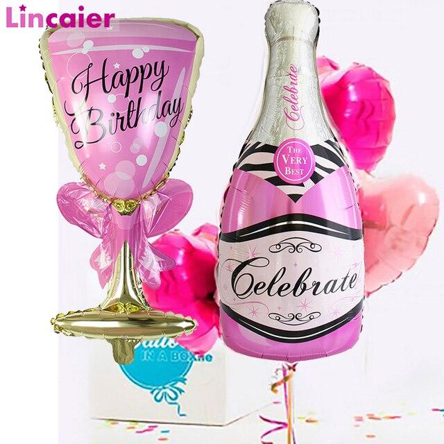 גדול שמפניה יין כוס ויסקי רדיד בלונים שמח מסיבת יום הולדת קישוט למבוגרים חתונה ספקי צד 18 21 25 30 40 50 60