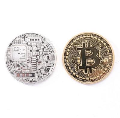Moneda de Bitcoin chapada en oro Colección de Arte de monedas BTC regalo Metal físico imitación antigua decoración de fiesta en el hogar