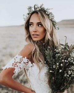 Image 2 - Full Lace Wedding Dress Portrait Mermaid Bridal Gowns 2019 New Custom Made Beach Vestidos De Novia Elegant