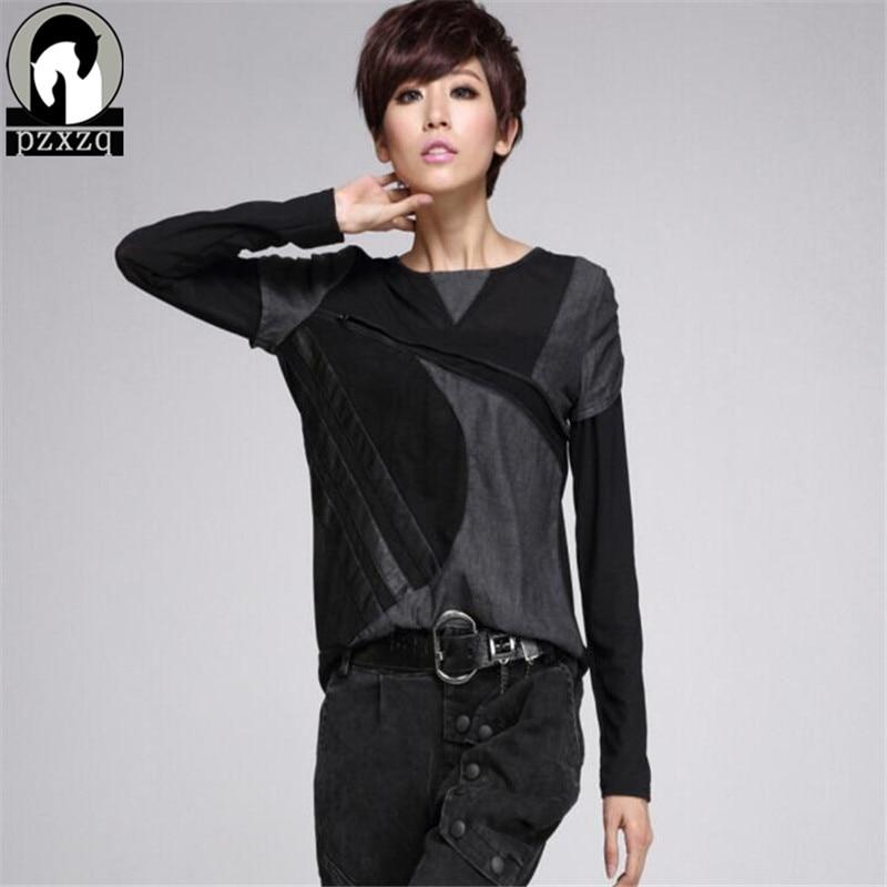 Јесен Т схирт мајица Секи чипка - Женска одећа - Фотографија 3