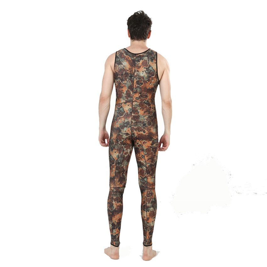 Top quality new 7mm CR neoprene diving suit camo spearfishing wetsuit (1)
