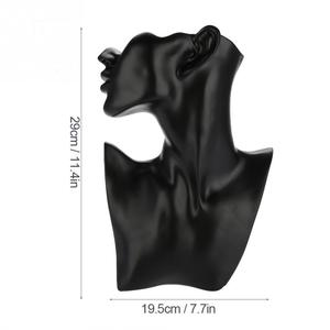 Image 5 - Resin Mannequin Necklace Earrings Holder Head Bust Stand Model Shop Retailer Counter Jewelry Organizer