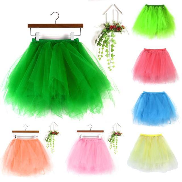 New Womens jupe tulle femme High Quality Pleated Gauze Short Skirt Adult Tutu Dancing Skirt