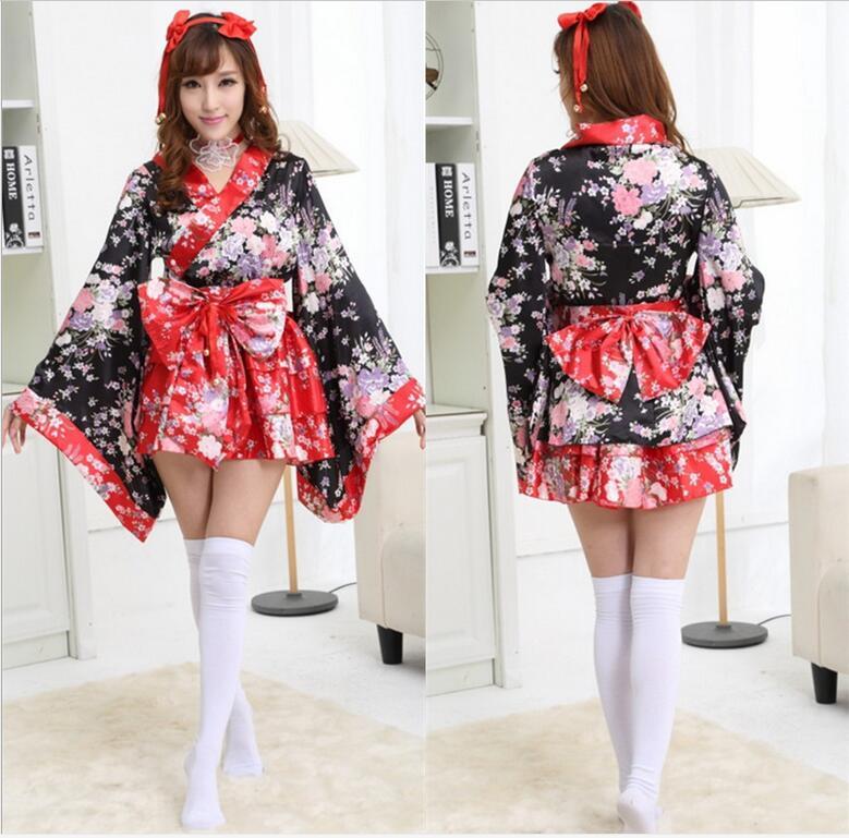 Red Cherry Blossoms Kimono Dresses Halloween Heavy Sakura ...