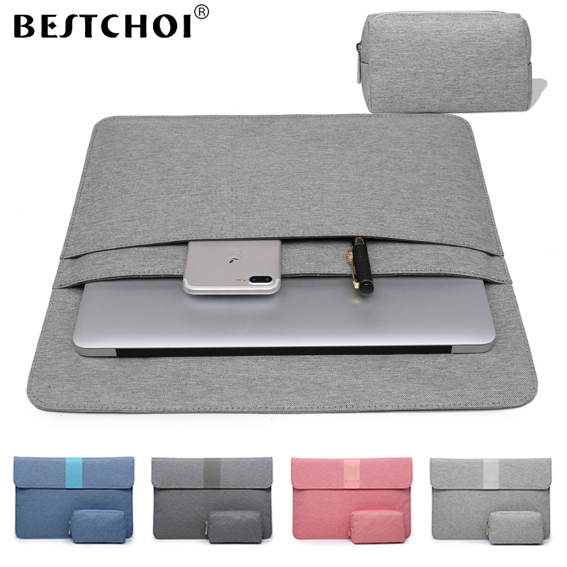 Laptop Bag 13 15 inch for Macbook Retina Pro Touchbar 13 11 12 13.3 inch Laptop Sleeve for macbook air 13 case Women Laptop Case jisoncase laptop sleeve case for macbook air 13 12 11 case genuine leather laptop bag unisex pouch for macbook pro 13 inch cover