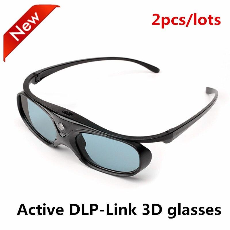 2PACK Newest G15-DLP 3D Active Shutter Glasses For Optoma for LG for Acer DLP-LINK DLP Link 3D Projectors 96-144Hz
