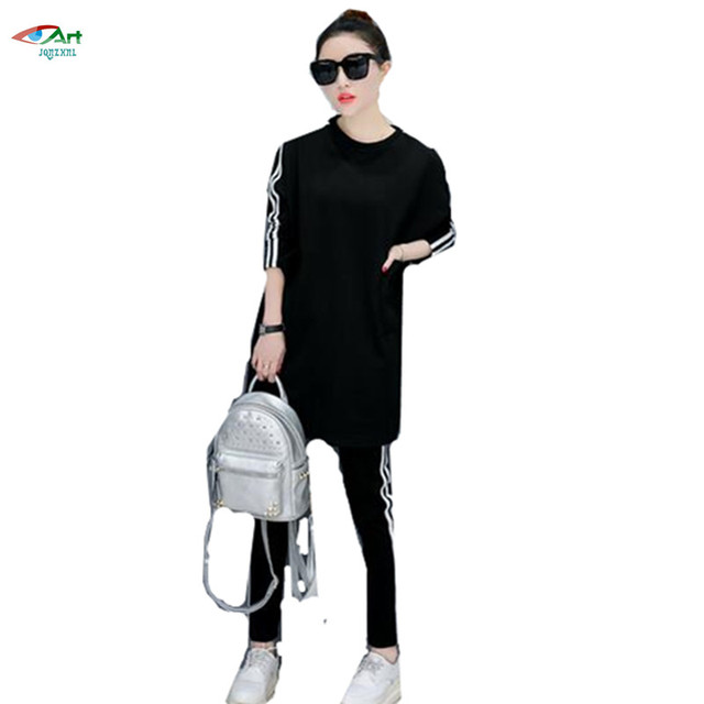 2017 Women Sporting Suit Casual Pockets Sweatshirt 2 Pieces Set Women Sportswear Suit Spring Women Suit Sets AS51 JQNZHNL