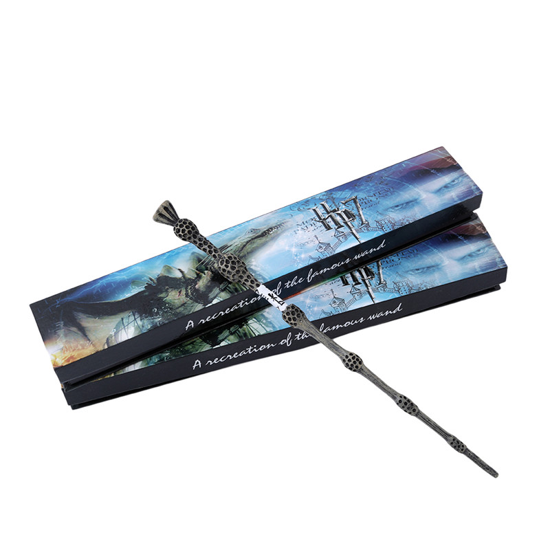Colsplay New Arrive Metal/Iron Core Albus Dumbledore Old Wand/ Harri Potter Magic Magical Wand/ Elegant Ribbon Gift Box Packing