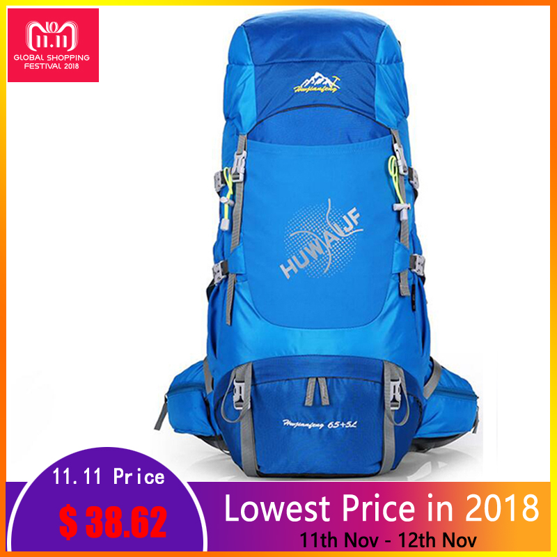 70L Ultralight Large Outdoor Backpack Sports Bag Camping Hiking Mountaineering Backpack Travel Climbing Camping Waterproof Bag outdoor 50l sports bag large capacity men travel bag mountaineering backpack hiking camping waterproof bag