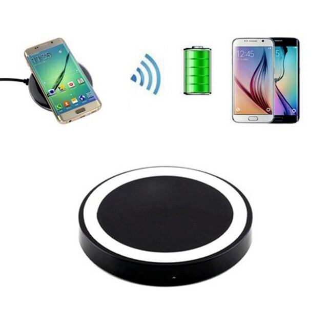 Cargador inalámbrico Qi de alta calidad Popular con Cable de carga USB duradero para teléfonos IOS Android Samsung Nokia HTC LG