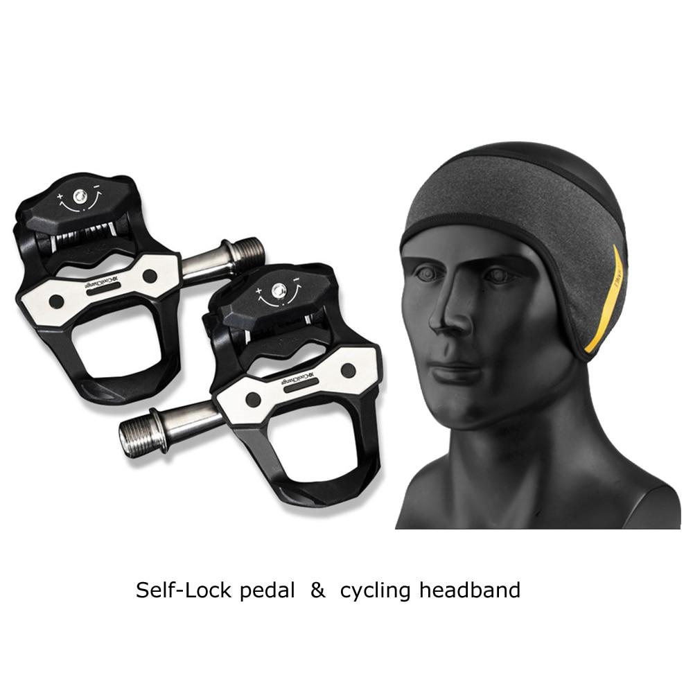 Pédales de vélo vélo de route auto-verrouillage pédales ultralégères en Fiber de carbone scellé roulement pédale cyclisme chapeau chapeau chapeaux bandeau