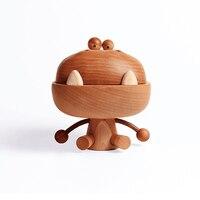 Big Mouth Wooden Dragon Beech Wood Art Toy Birthday Gift Original Designed Decoration Oak Cartoon Dragon