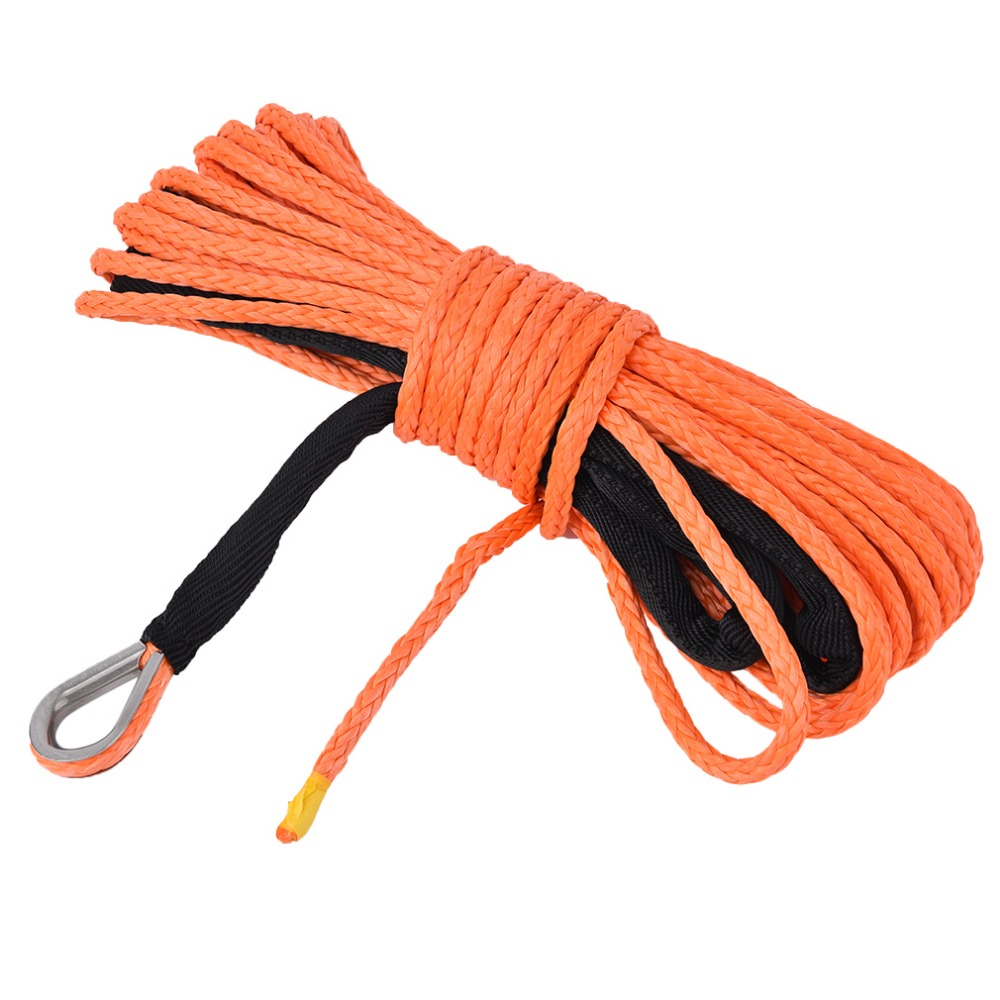 12 Strand Braid Winch Line Synthetic Pulling Hauling Rope Line High strength Lightweight Climbing Outdoor Rope 8mm 30m orange synthetic winch rope atv winch line off road rope towing ropes with hook plasma rope page 7