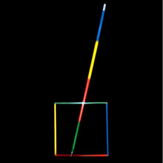 Quadratur Die Kreis, um Cane Zaubertricks Erstaunliche Bühne Straße Magia Zauberstab Erscheinen Verschwinden Magie Illusion Gimmick Prop Accesssaries