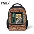 Baby Girls Boys Small Backpacks for School Life Kids 3D Animal Bagpack Back Pack Rucksack Cute Cat Print Students Mini Bag Back