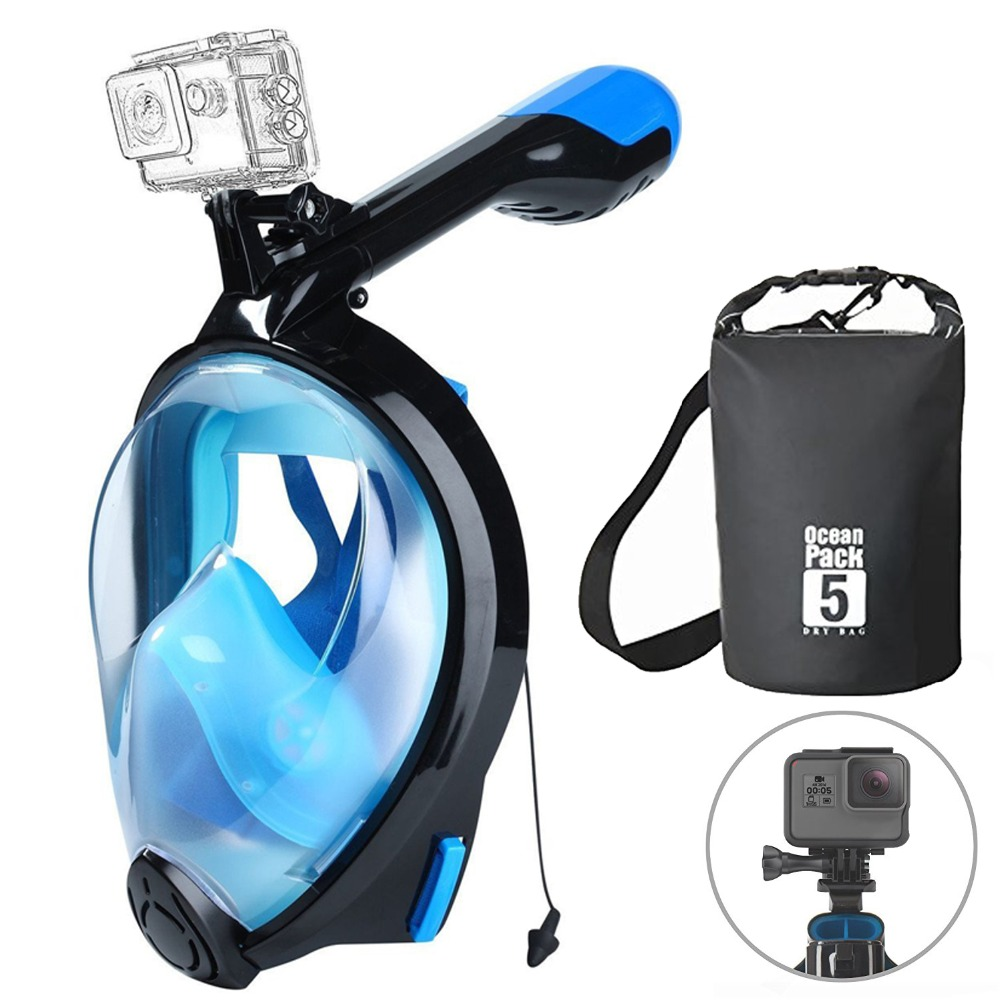 2018 diving snorkel mask full face scuba mask for swimming underwater equipment for adult child scuba set diving gear with bag scubapro scuba diving equipment set wetsuit boots gloves fins bcd mask snorkel mask strap