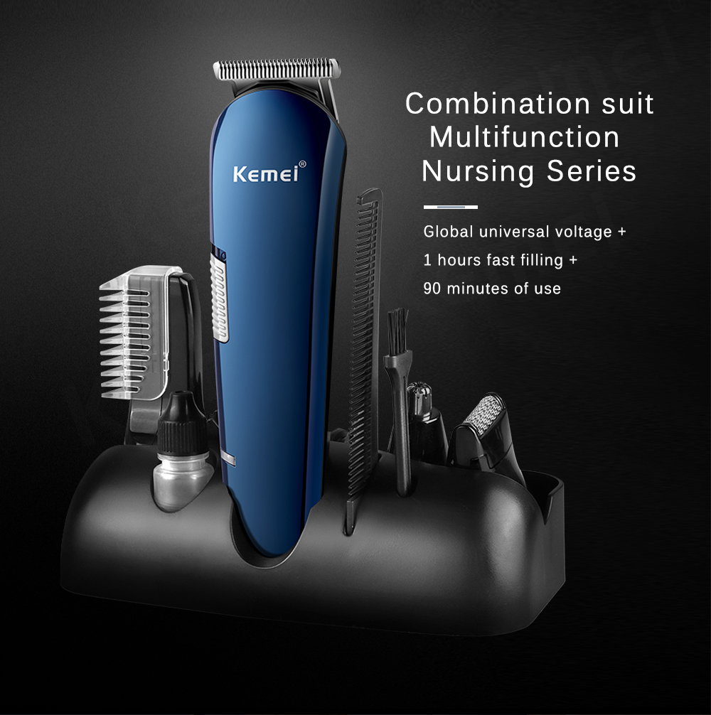 Kemei KM-550 Rechargeable 8 in 1 Hair Trimmer 6