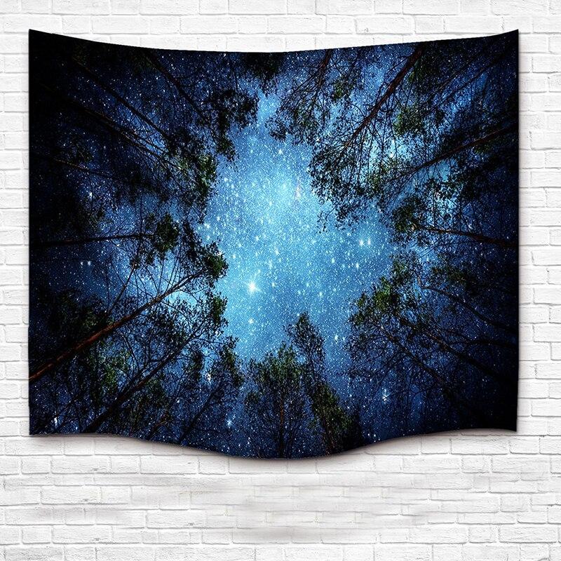 1pc Wall Hanging Mandala Tapestry Home Decoration Textiles Beautiful Night Sky Wall Tapestry Towel Yoga Mat Blanket