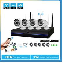 hot deal buy 4ch cctv system wireless 960p nvr 4pcs 1.3mp ir outdoor indoor p2p wifi ip cctv security camera system surveillance nvr kit