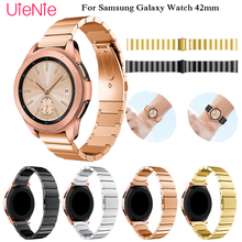 Metal stainless steel Strap for Samsung Galaxy Watch 42mm Band with 20mm Width Wristband for Samsung Gear S2 Watch Band bracelet все цены
