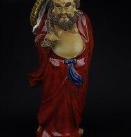 Китай Керамика WUCAI фарфор украшения dharma damour Бодхидхарма статуя Будды